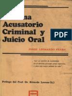 49.- Sistema Acusatorio Criminal y Juicio Oral - Frank, Jorg