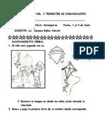 EVALUACION DEL  I TRIMESTRE DE COMUNICACIÓN