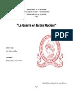 GUERRA EN LA ERA NUCLEAR. ENSAYO DE (PARA)  ETICA