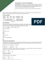 Sistema lineal de dos ecuaciones con dos incógnitas