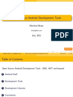 Open Source Android Development Tools - SDK, ADT and Beyond Presentation
