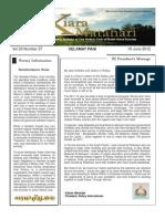 RCBKS Bulletin Vol 20 No 37