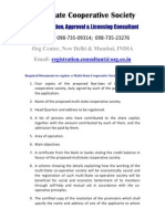 Ozg Multi State Credit Cooperative Society Registration Consultant