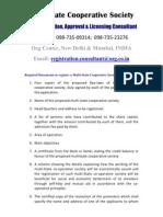 Ozg Multi State Credit Cooperative Society Registration Consultant
