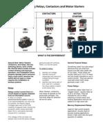 Electrical Choosing Relays Motor Starters Contactors