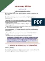 Accords d'Evian Texte Integral