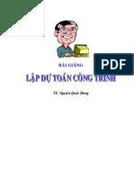 Bai Giang Lap Du Toan Bang Excel
