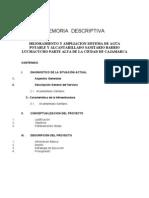 MEMORIA DESCRIPTIVA - ALCANTARILLADO PENCAPAMPA
