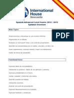 Spanish Advanced Level Course 2012 - 2013