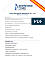 Spanish Intermediate Level Course 2012 - 2013