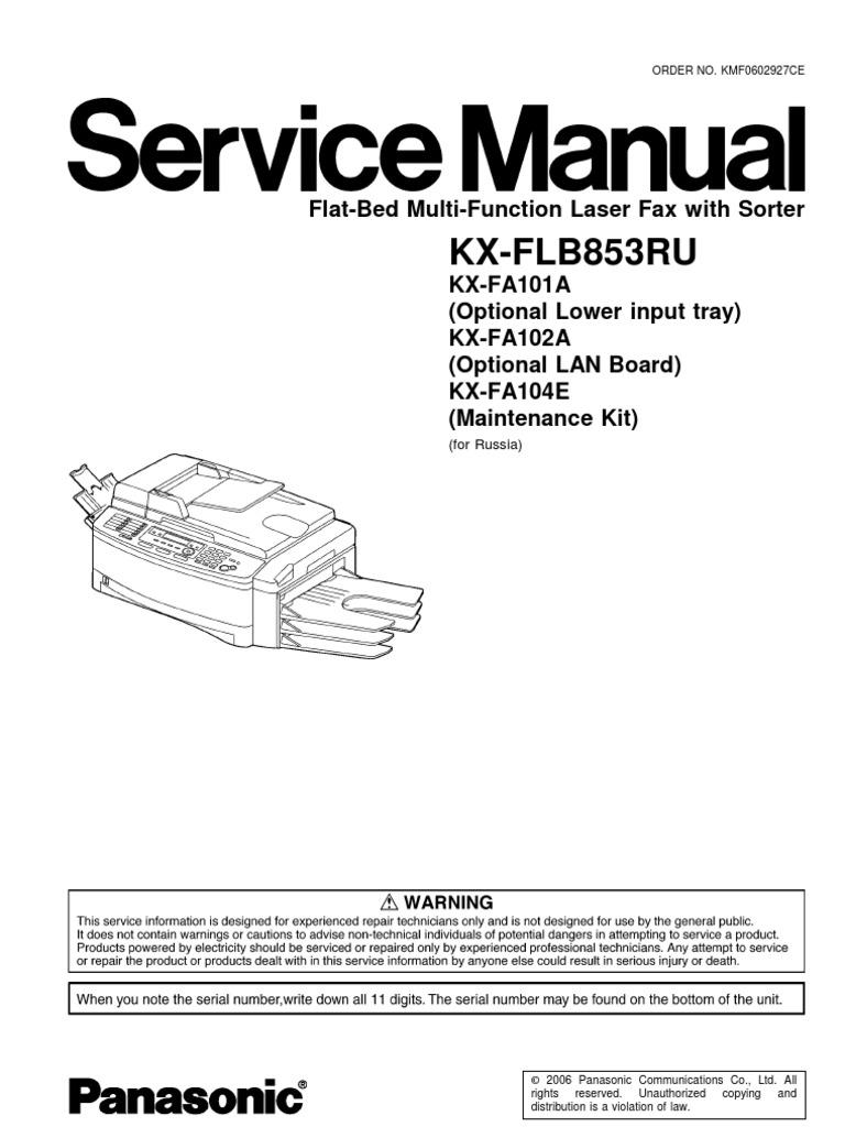 Kx Flb802cx Pdf