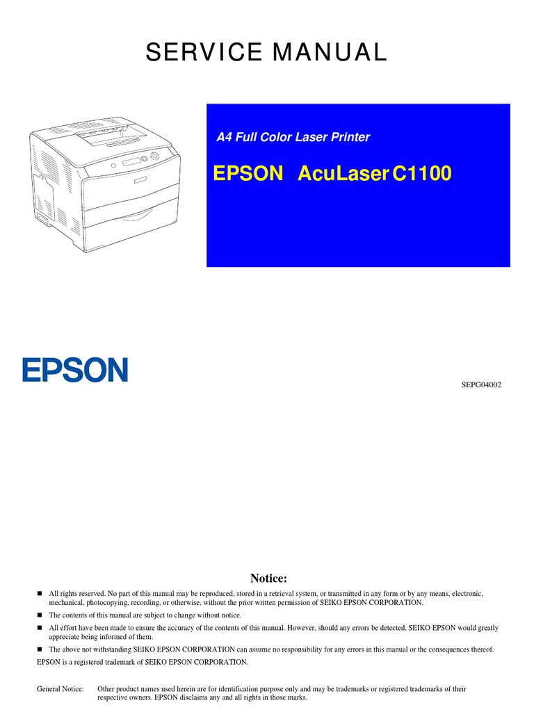 Epson Aculaser C1100 Service Manual Printed Circuit Board Toshiba 1600 Xp Wiring Diagram Printer Computing