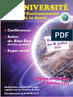 14è Université Environnement Santé à Saintes 2012