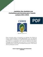 Résultats au CAHM 2011-2012