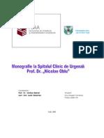 """Monografie Spitalul de urgenta """"Nicolae Oblu"""""""