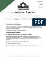 June 2012 Regular Commission Meeting Packet