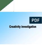 Creativity Investigation