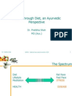 Health Through the Diet - An Ayurvedic Perspective -Pratibha Shah, BAMS, MD-Ayu