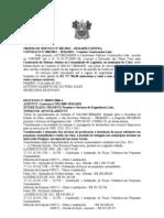 ORDEM DE SERVIÇO Nº 001 TERMO APOSTILAMENTO PERFURAÇÃO POÇOS TUBULARES
