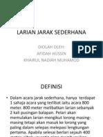 LARIAN JARAK SEDERHANA