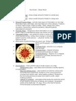 Geo Exam - Study Sheet