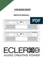 Ecler Pam2000 Pam2600 Power Amplifier Service Manual
