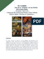 FE Y SABER (Jacques Derrida)