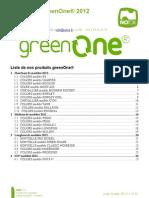Catalogue NOTOX greenOne® 2012
