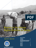 Human Rights Situation in Burma From March 2011 March 2012 English