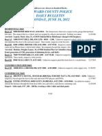 Police Daily Crime Bulletin 20120618