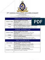 3rd Annual Kingdom Builders Summit - Itinerary