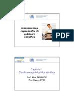 Capitolul 1 Clasificarea Publicatiilor Stiintifice