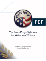 The Peace Corps Official Stylebook for Writers and Editors - Office of Communications Revised October 2010
