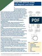 Davis Controls Ltd. Installation and Service Guide for Davis Klinger Magnetic Level Gauge