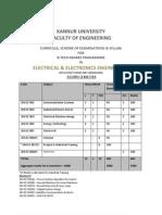 Kannur University BTech EE VIII Sem Syllabus
