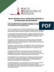Grave Deterioro de La Condiciones Laborales y Profesionales del Periodismo . Comunicado del FOP