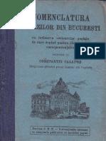 Nomenclatura Strazilor Din Bucuresti 1928