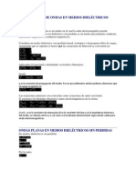 PROPAGACIÓN DE ONDAS EN MEDIOS DIELÉCTRICOS DISIPATIVOS