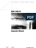 Alfa-Laval Modelo MAB-103 - Manual de Instrucao