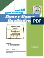 Signo y Signo Linguístic(G3)