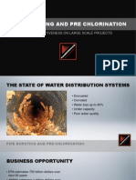Pipe Bursting and Pre Chlorination Effectiveness on Large Scale Projects