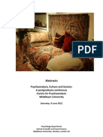 Handbook 2012  Abstracts Psychoanalysis,Culture and Society