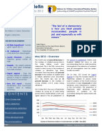 Defence for Children International-Palestine's monthly bulletin on detention - Issue 29 - May  2012