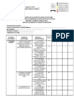 Fisa de Autoevaluare Evaluare Conform Ordinului 61432011
