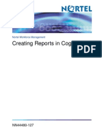 Avaya Create Reports in Cognos