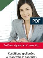 Brochure Tarifaire Mars2011