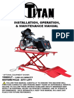 TITAN MOTORCYCLE LIFT Hdml 1500xlt Manual