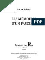Les mémoires d'un fasciste II_REBATET Lucien_A4