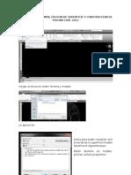 Calculo de Volumen, Edicion de Superficie y Construccion de Piscina Civil 2012