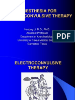 Anesthesia for Electroconvulsive Therapy